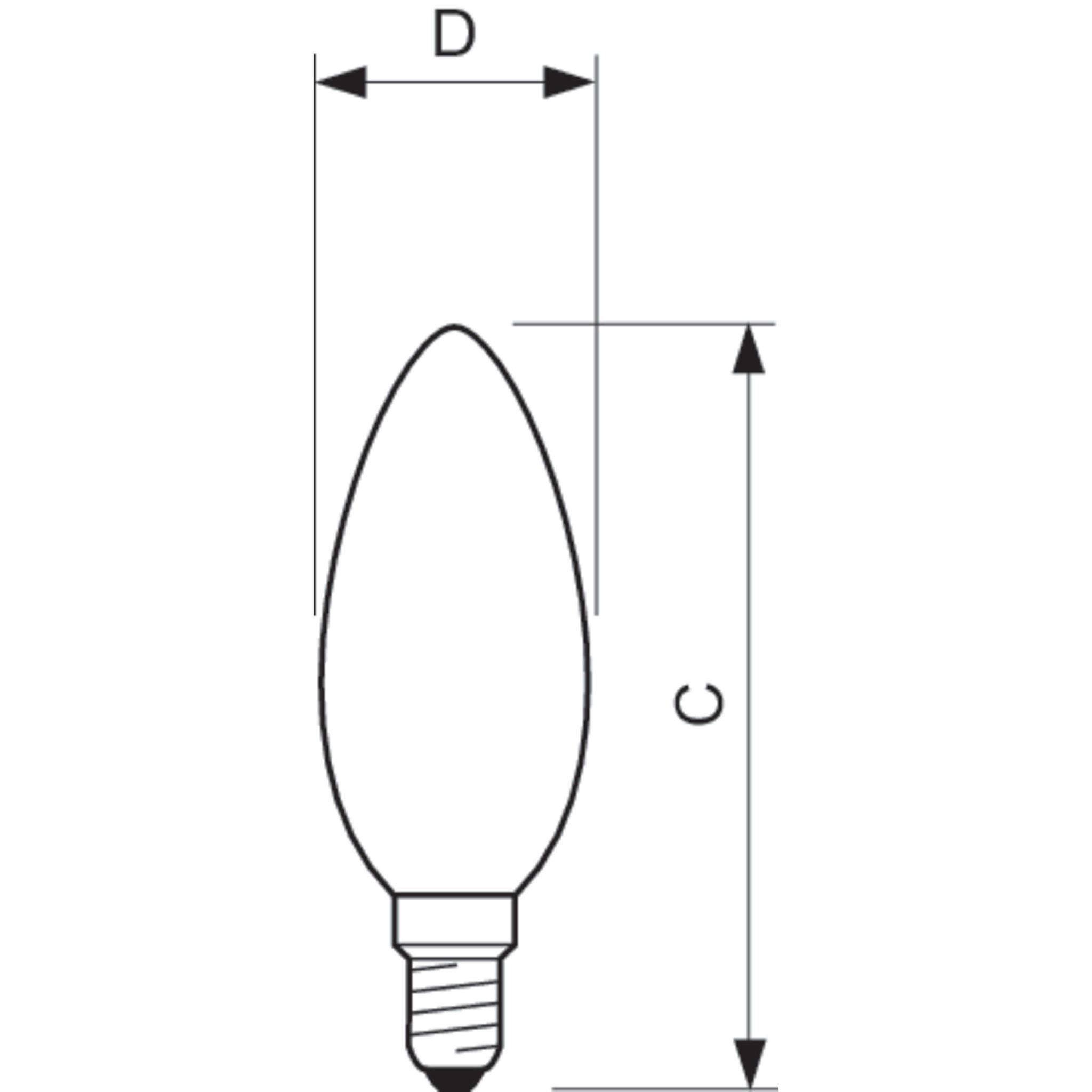 Philips Led Filament Candle Bulb Clear B35 E14 5w K