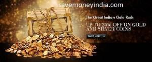 Gold & Silver Coins upto 10% off – FlipKart image