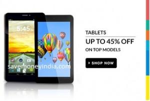 Tablets upto 45% off + upto Rs. 8500 off (Exchange) – FlipKart image