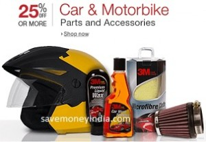 Car & Motorbike Accessories 25% off or more from Rs. 53 – Amazon image