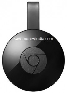 Google Chromecast 2 Media Streaming Device Rs. 2799 – FlipKart image