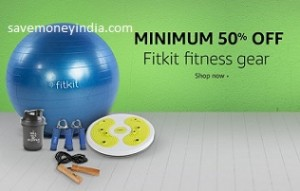 Fitkit Fitness Gear 50% off or more from Rs. 105 – Amazon image