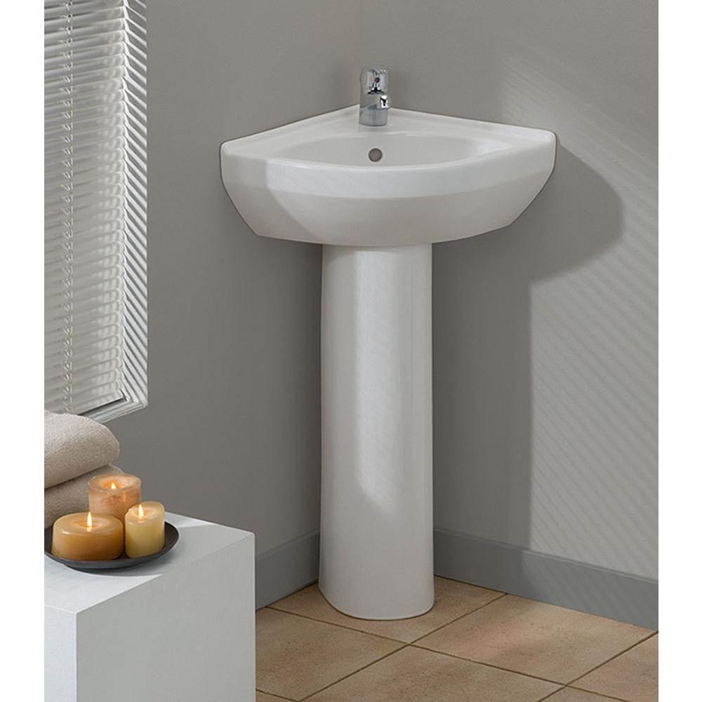 petite corner pedestal sink
