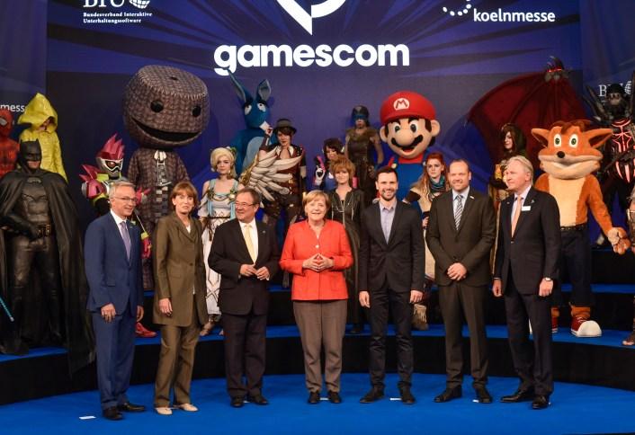 Gamescom 2017 ouverture par Angela Merkel