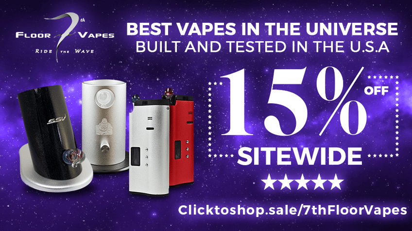 7th Floor Vapes - Coupon Code - Discount Code - Cannabis - Marijuana Vape - Vaporizer - Online - Promo - Weed - 420 - Save On Cannabis