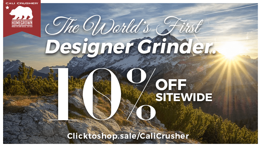 CaliCrusher Grinder Coupon Codes - Cannabis - Marijuana - Herb - Joints - Blunts - California - Designer Grinder - Save On Cannabis Promo