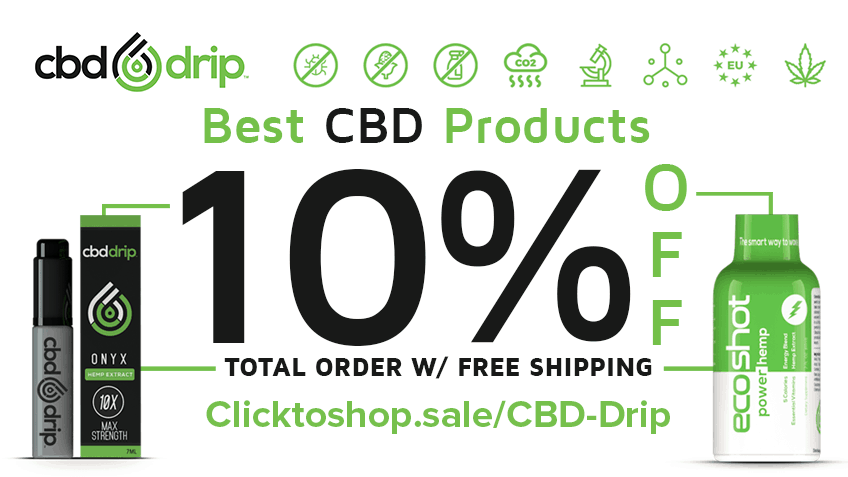 CBD Drip - 10% OFF Free Shipping Store Coupon Promo Certificate Website