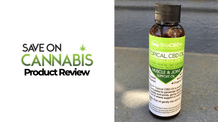 BioCBD Plus Review - CBD Topical Hemp Oil - Save On Cannabis