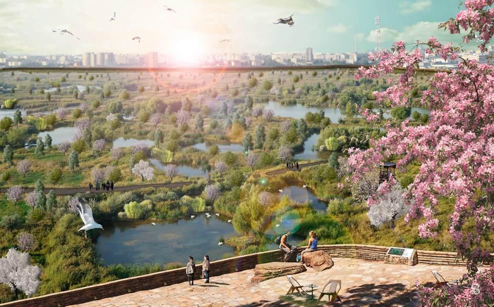 Parcul Vacaresti propunere panorama