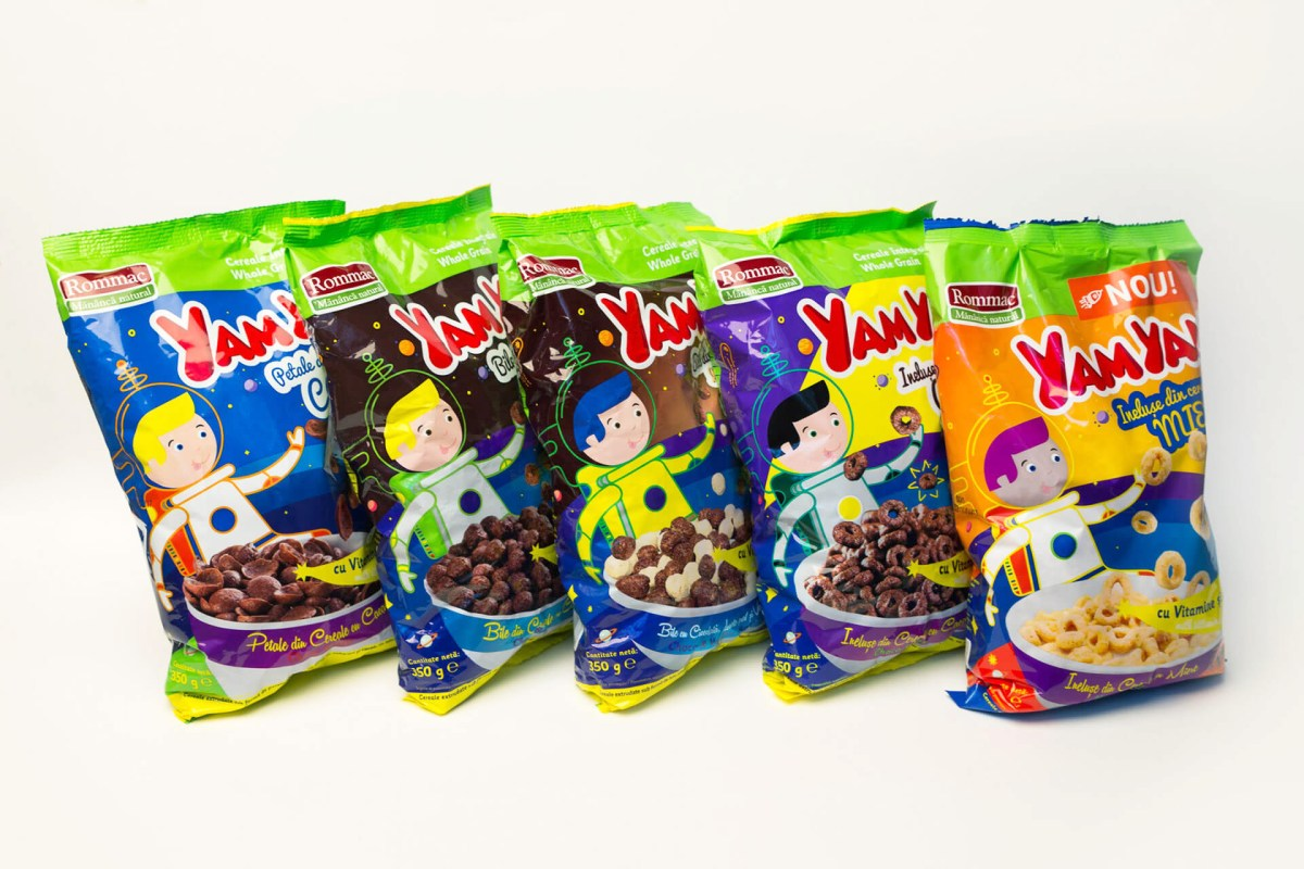 Yam Yam cereals family Packaging Rommac