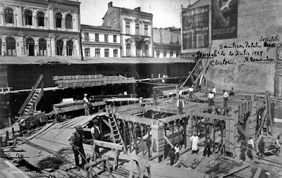 Palatul regal în timpul lucrărilor arh Nicolae Nencilescu