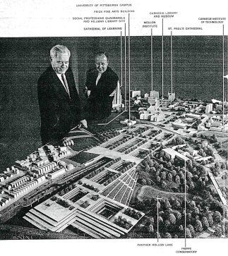 Architect's model of the Panther Hollow project.