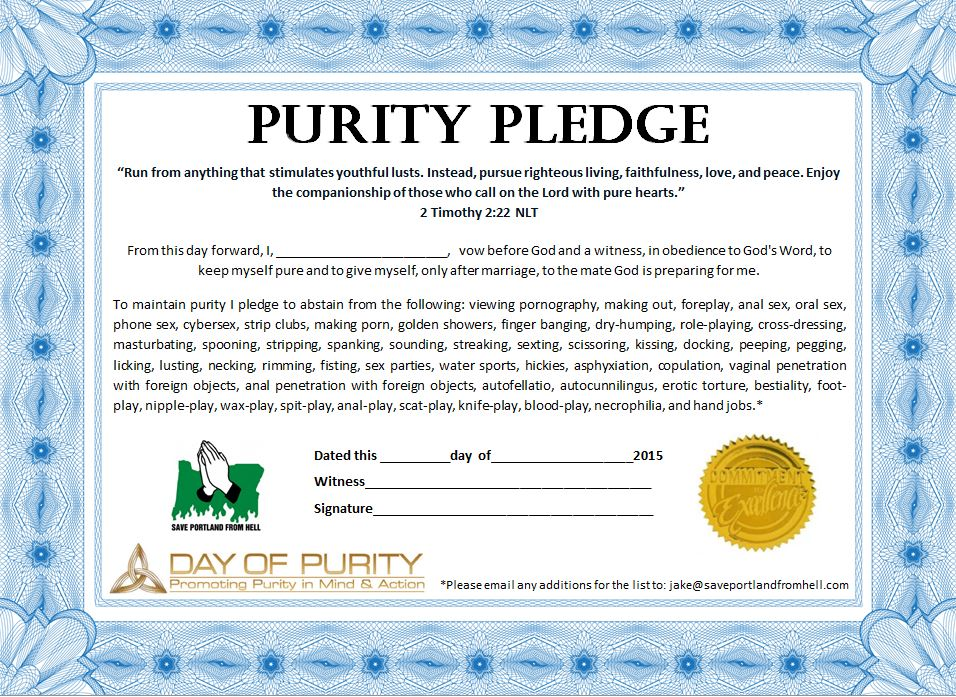 Purity Pledge 8