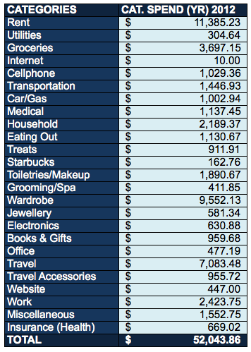 2012-Year-Spend-Expenses-In-Total-Review