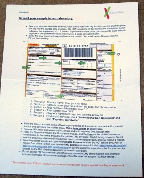 23andMe-DHL-Canada-DNA-Sample-Box-Instructions