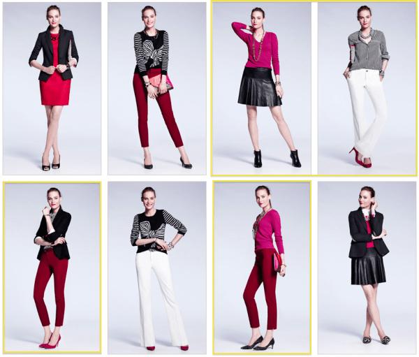 Banana-Republic-Autumn-Winter-2013-Magenta-Winter-Whites-Outfits-New