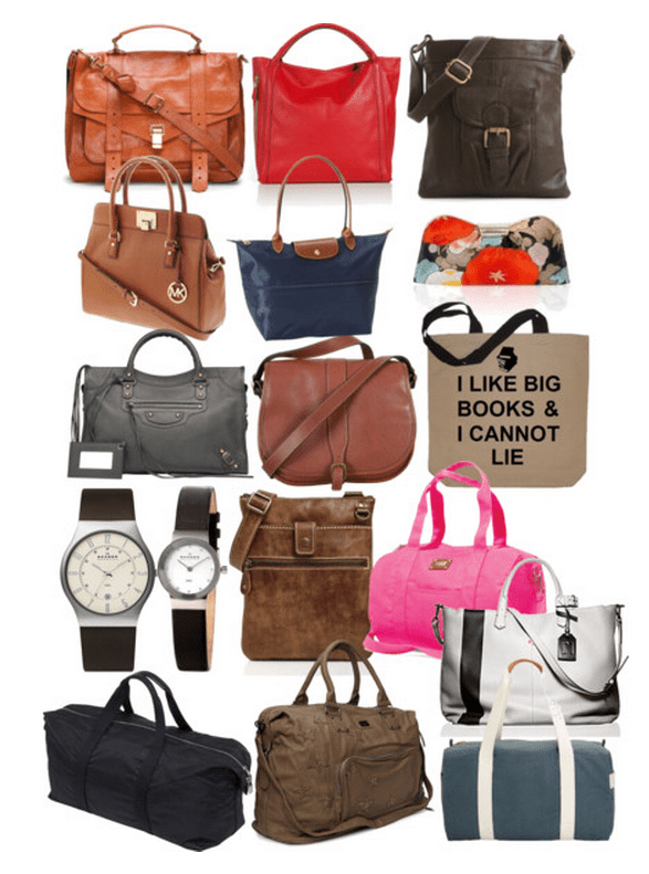 Basic-Work-Wardrobe-Minimalist-Current-2012-Purses-Watches-Gym-Bags