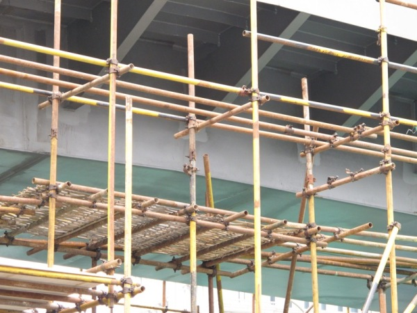 Beijing-China-Photograph-Bamboo-Building-Sites-Construction