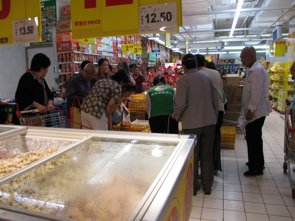 Beijing-China-Photograph-Inside-Grocery-Store-Carrefour-Eggs-Lineup-Food