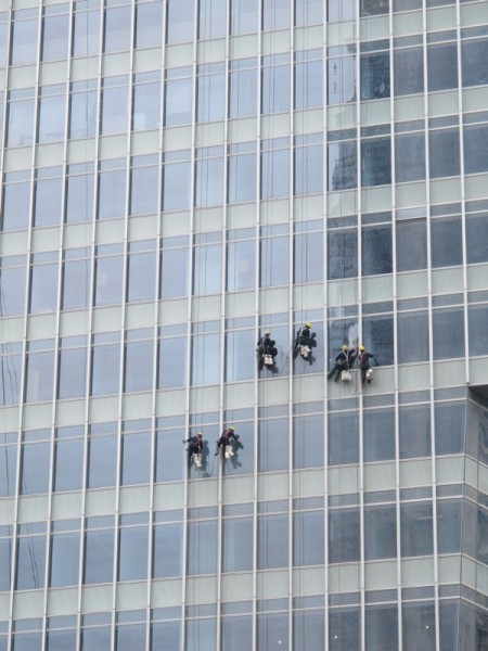Beijing-China-Photograph-Skyscrapers-Cleaners-on-Buckets-2