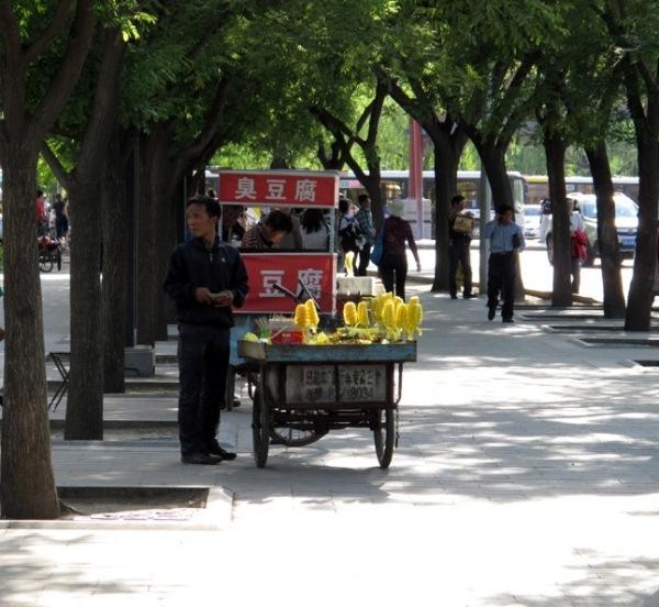 Beijing-Photograph-Street-Stall-Pineapples-Seller-Fruit