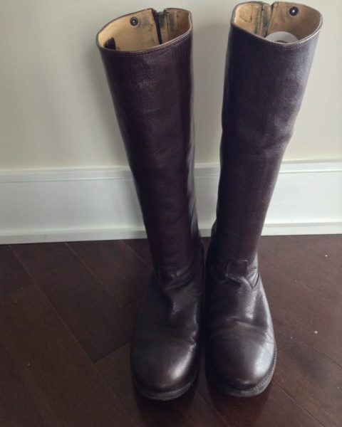 Frye Boots_Melissa Button Back Zip_Dark Brown