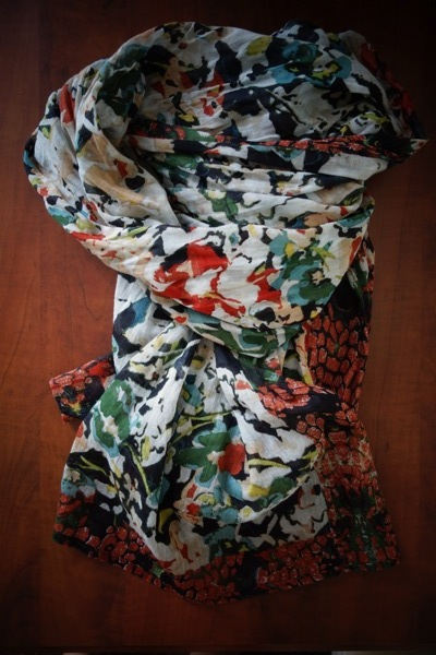 Mexx-Thrifted-Cotton-Scarf-Floral-Impressionist