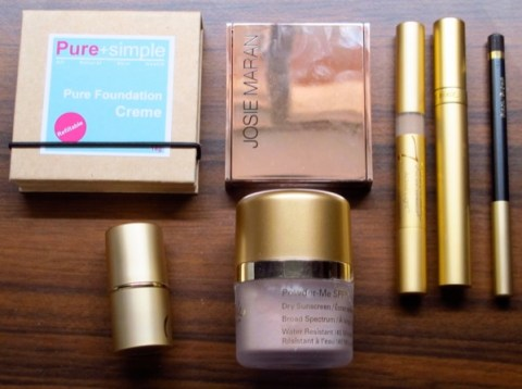 Natural-Makeup-Purchase-April-2013-Pure-and-Simple-Foundation-Josie-Maran-Jane-Iredale
