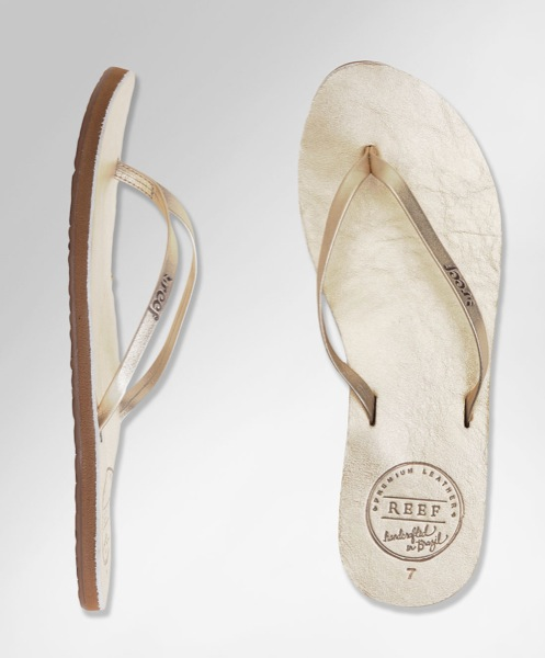 Reef-Leather-Uptown-Metallic-Gold-Flip-Flop-Sandals-Champagne-Front