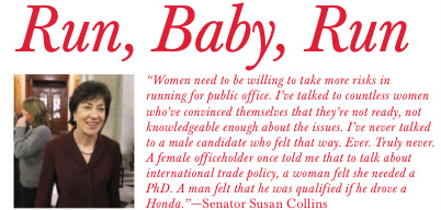 Senator-Susan-Collins-Run-Baby-Run-Article-Elle-September-2012-Page-384-Politics-Quote-Woman