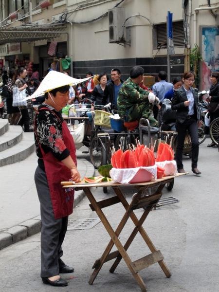 Shanghai-China-Photograph-Food-Watermelon-Vendor