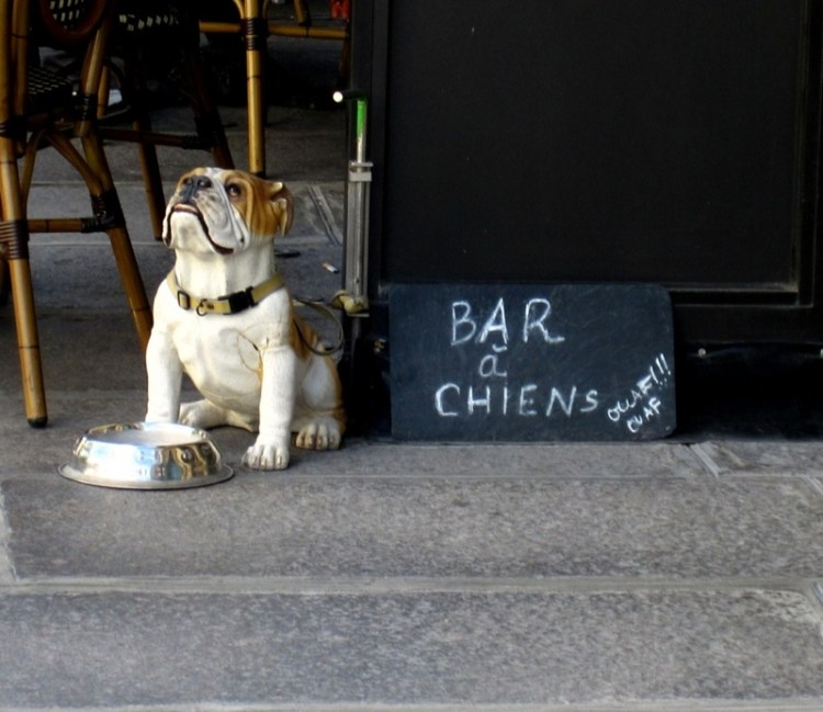 Travel-Photograph-Paris-France-Bar-a-Chiens-Statue-Restaurant