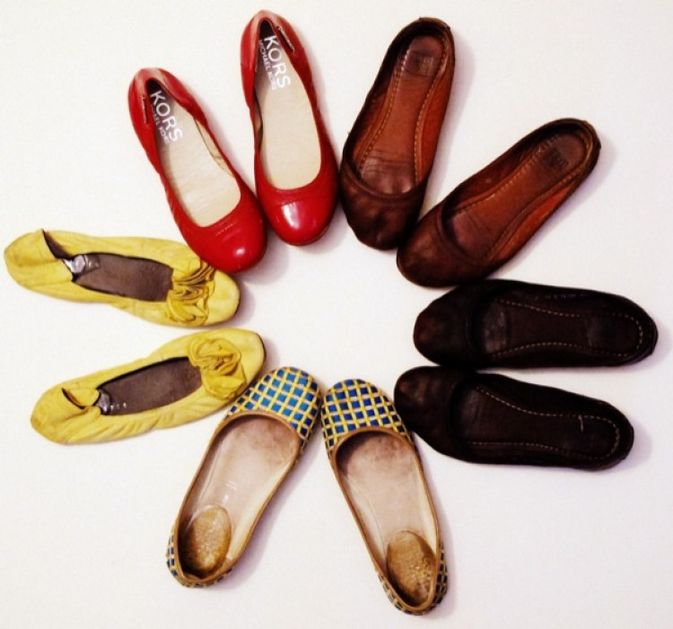 Wardrobe-Closet-Shoes-Ballet-Flats-Collection-Red-Michael-Kors-Frye-Leather