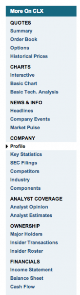 Yahoo-Finance-Navigation