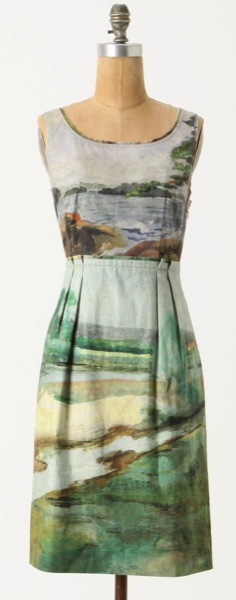 anthropologie-odille-artist's-rendering-dress-blue-motif-style