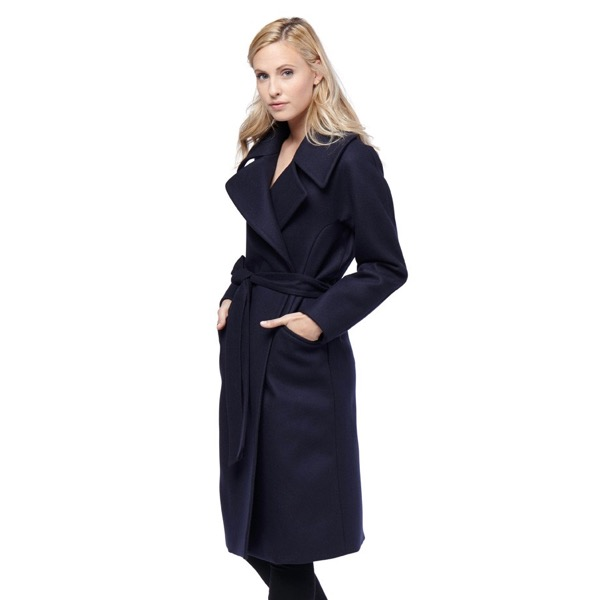cuyana-navy-wrap-wool-eco-coat-model-2-review-save-spend-splurge
