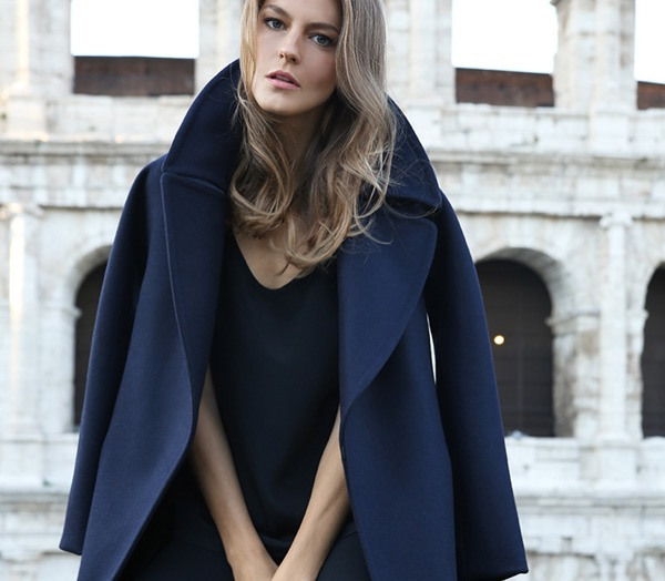 cuyana-navy-wrap-wool-eco-coat-model-3-review-save-spend-splurge