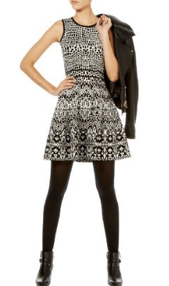 karen-millen-lace-jacquard-knit-dress
