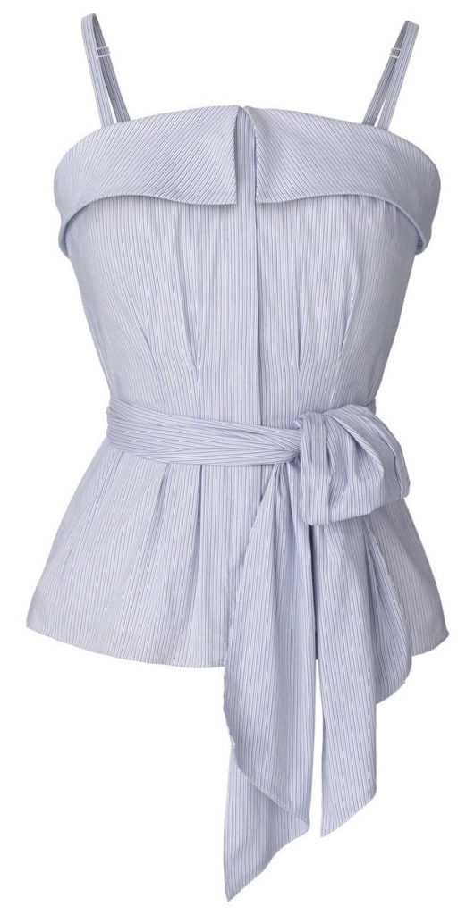 olivia-palermo-chelsea28-cotton-pinstripe-belted-bustier