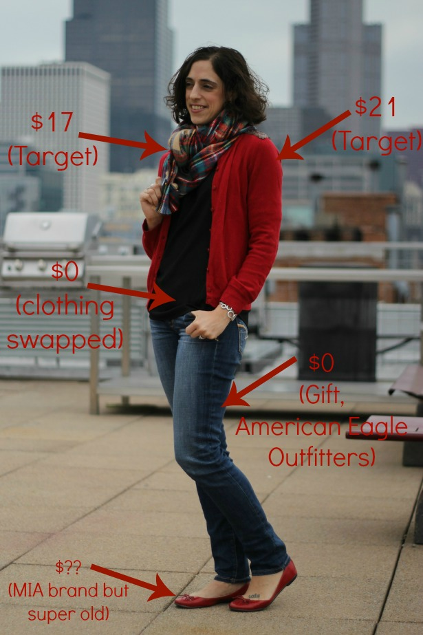 style-bloggers-erin-loop-looks-red-cardigan-plaid-blanket-scarf