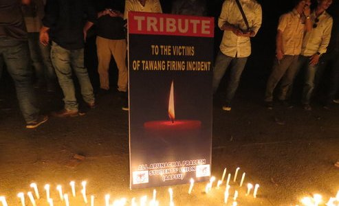 All Arunachal Pradesh Students' Union (AAPSU) marched in solidarity with the victims of Tawang firing