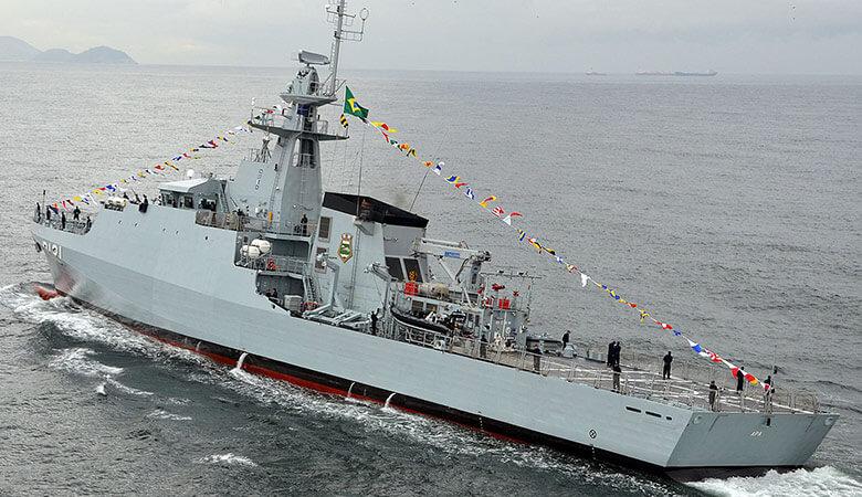 Sister ship the Brazillian Navy's OPVApa - note the 20mm cannon on the bridge wing