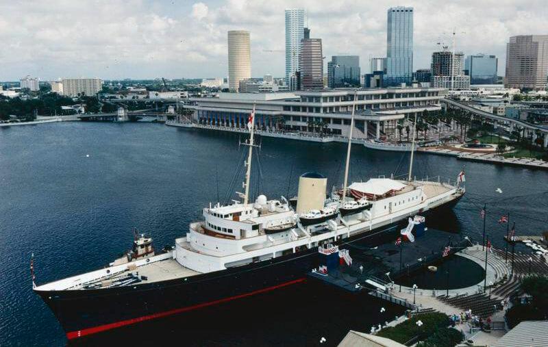 HMY Britannia, Toronto October 1991. (IWM)