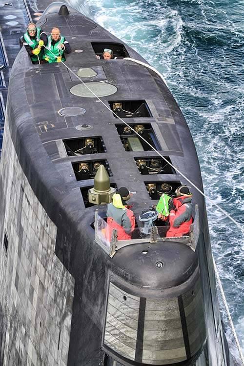 Fin of an Astute class boat