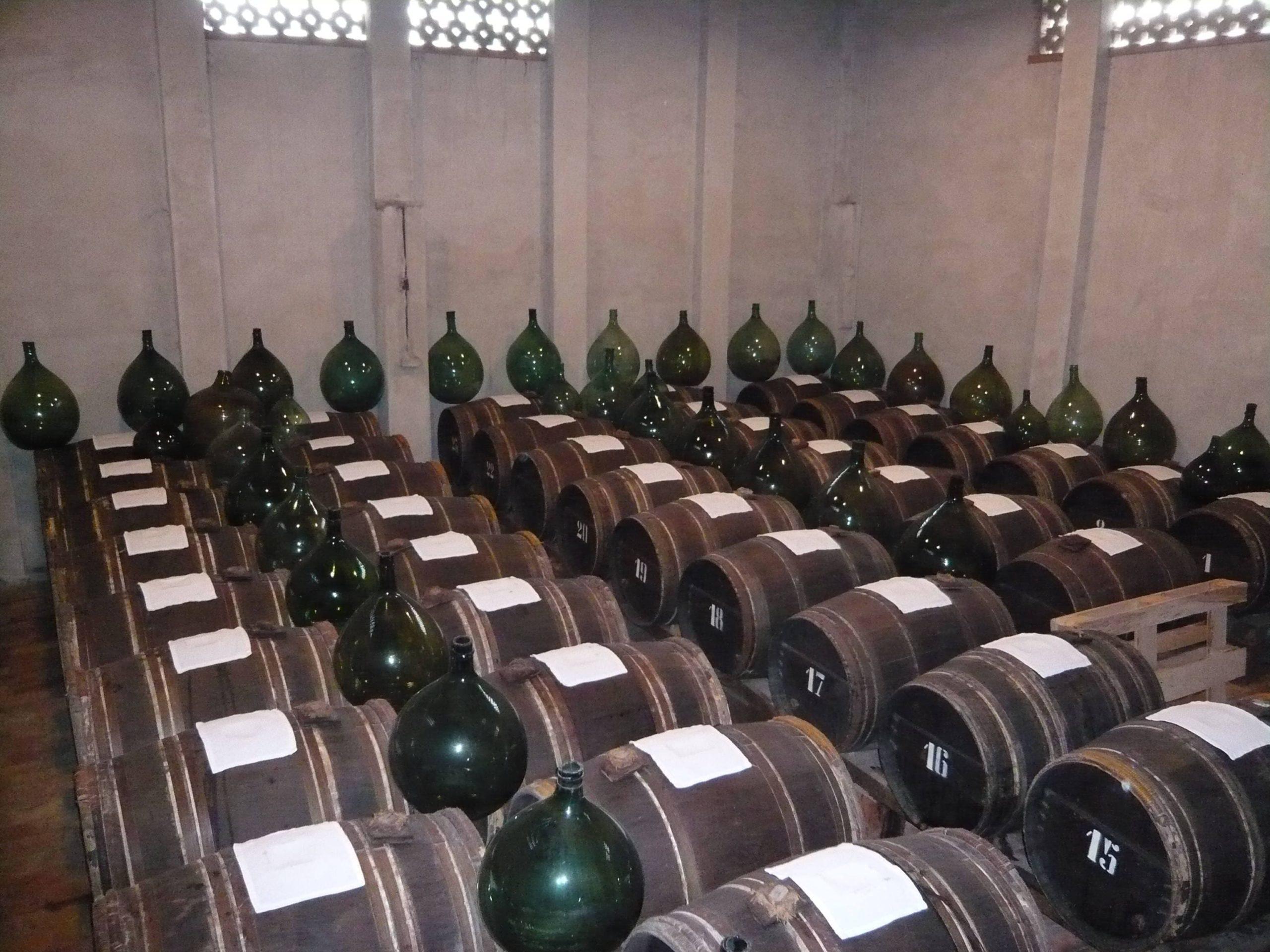 Balsamic vinegar aging cellar