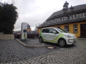 Zweiter Ladestopp in Montabaur - VW e-up!