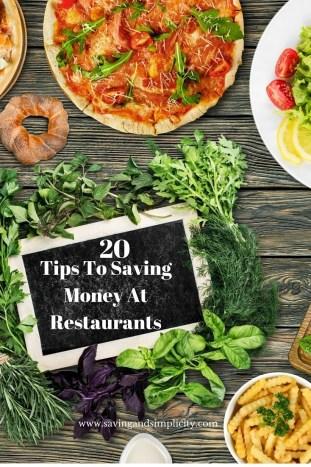 saving money at restaurants