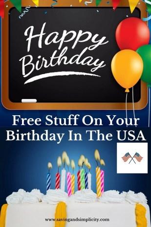 Free stuff on your birthday usa