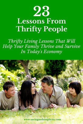 lessons from thrifty people
