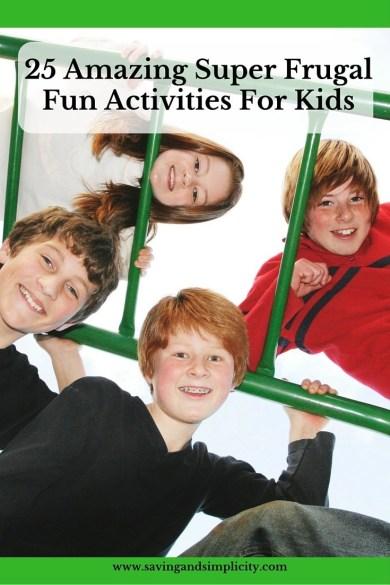 amazing frugal kids activities